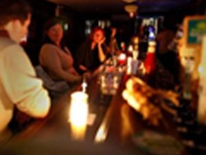 Candles-at-bar